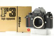 [rare Unused Boxed] Nikon F3 P F3p Press Hp 35mm Slr Film Camera Body From Japan