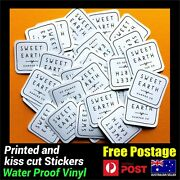 Custom Square Logo Business Stickers Packaging Label Print And Cut Decals