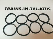 Lionel Steam Engine Traction Tire 8 Ea. Also Williams, Atlas, Engines 1 Id
