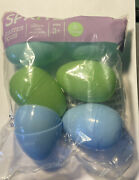 Spritz Refillable Large Plastic Easter Eggs Blue/green 6 Count