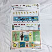Vintage Read A Mat Eat And Learn Educational Placemats Sign Language Animal Trac