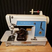 Vintage Singer Touch And Sew Sewing Machine Model 604e W/ Pedal
