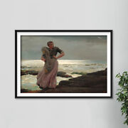 Winslow Homer - A Light On The Sea 1897 - Painting Poster Art Print Ocean