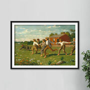 Winslow Homer - Snap The Whip 1872 - Painting Poster Art Print Gift