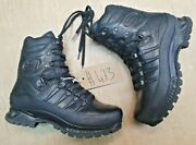 Meindl German Army Sf Issue Black Leather Goretex Combat Boots Size 7.5 Uk 473