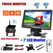 Wireless Ir Rear View Back Up Camera Night System +7 Monitor For Truck Rv