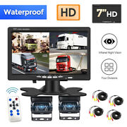 Wireless Ir Rear View Back Up Camera Night System+7 Monitor For Truck Rv