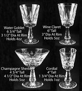 Waterford Rosslare Water, Champagne/sherbet, Wine, Cordial -- Select Choice