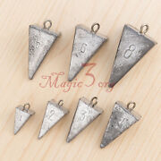5pcs Fishing Pyramid Sinkers Lead Weights Surf Fishing Flounder Rig Tackle 1-8oz