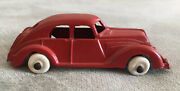 1930s Vintage Red Sedan By Hubley Made In Usa White Wheels 3.5andrdquo