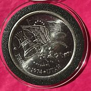 1974 Provo Utah Collectible Coin 1 Troy Oz .999 Fine Pure Silver Round Art Medal