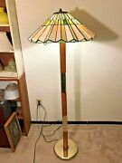 Vintage Style Bulb Stained Glass Floor Lamp