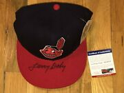 Larry Doby Signed Cleveland Indians Fitted New Era Cap Hat Psa Dna Chief Wahoo