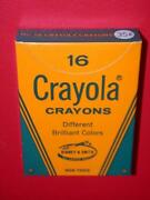 Vintage 1960's 1 35 Cent Box 16 Crayola Crayons Old Store Stock Mib Mint Nos