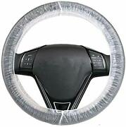 Clear White Plastic Disposable Truck Car Steering Wheel Covers Films 100 Pieces