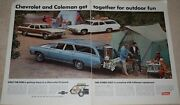 3 Coleman Ads - Original Color 1-2 Page 1 Bl. And Wh. And Rare Chevrolet And Coleman