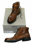 Kenneth Cole Reaction Leather Mens Brewster Jack Boots 13m Cognac Dsgn 212705 Nw