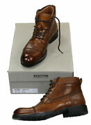 Kenneth Cole Reaction Leather Men Brewster Jack Boot 10.5m Cognac Dsgn 212705 Nw