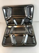 Vintage Heavy Silver Cafeteria Trays Set Of 7