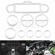 Chrome Speedometer Gauge Bezel Accent Trim Ring Fit For Harley Touring 96-13