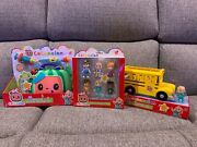 Cocomelon Friends And Family Figures Bus And Dr Kit Combo