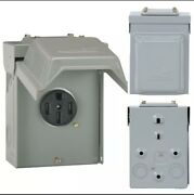 New Midwest Ge Outdoor Power Outlet 50 Amps U054p Receptacle 240v Surface Mount