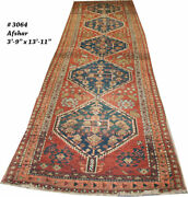 An Antique 14and039 Long Decorative Nw Hallway Runner Rug