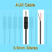 100pcs 30cm Stereo Audio Aux Cord 3.5mm 1/8 Male 3pin Wire Diy Pigtail Cable