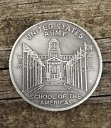 Us Army School Of The Americas Challenge Coin Vgc