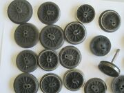 Lionel Lot Locomotive Wheels/axles Approx. 70 Wheels And 9 Axles Heavy