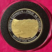 Anglogold Ccandv 24k Gold Gilded Coin 2 Troy Oz .999 Fine Pure Silver Art Round