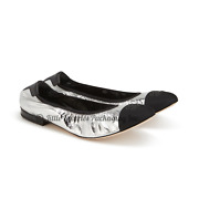 New In Box Sold Out 2021 Authentic Metallic Silver Cc Ballerina Flats