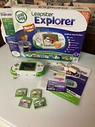 Leapster Explorer Game Learning Handheld System + Games + Box Set Lot + More