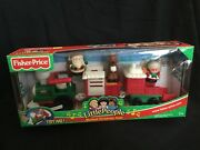 Fisher Price Little People Musical Christmas Train Santa/mrs.claus/reindeer New