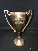"""1958 7 3/8"""" Lime Rock Race Track Speed Trials Loving Cup Trophy Lakeville Ct"""