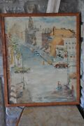 Baltimore Cityscape Painting. Original Mid Century Oil On Canvas By R. Gaver