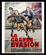 The Great Escape 4x6 Ft Vintage French Grande Original Movie Poster 1963