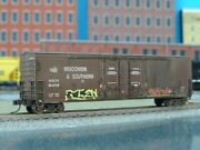 N Scale Fox Valley 50' Box Car Wisconsin And Southern Custom Weathered Patched
