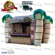 13x11.5ft Inflatable Tiki Bar Pub Booth Beach Party With Air Blower