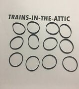Mth Traction Tire De-27 Premier / Railking Steam Set Of 12 Mth Tires Actual Mth