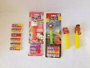 Pez Misc. Candy Dispensers - Hello Kitty, Cars, Ice Age - Plus Candy - Lot Of 4