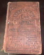 Antique Jerry Thomas Bartenders Guide By Jerry Thomas English Hardcover