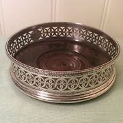 Antique Silver Wine Coaster George Iii Robert Hennell 1782-83