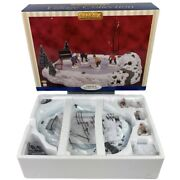 New Lemax Village Collection Animated Hockey Game Christmas Retired 2001 14664