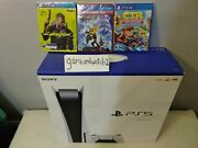 🔥🔥🔥 Ps5 Sony Playstation 5 Console +3 Games New🔥🔥🔥 Overnight 🔥🔥🔥