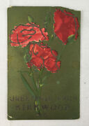 Vtg 1907 Floral Greetings From Kirkwood Mo Postcard John Smith 1 Cent Stamp