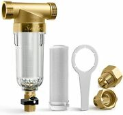 Reusable Spin Down Whole House Sediment Water Filter System 40 Micron 3/4 Fnpt