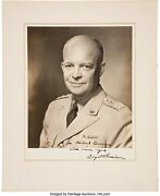 General Of The Armies Dwight D Eisenhower Inscribed And Signed Photograph 5 Stars