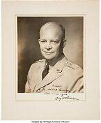Rare And Superb General Dwight D Eisenhower Inscribed And Signed Photograph 5 Stars