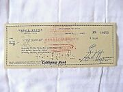 Rare Errol Flynn Signed His Personal Check Hollywoodand039s Top Box Office Draw